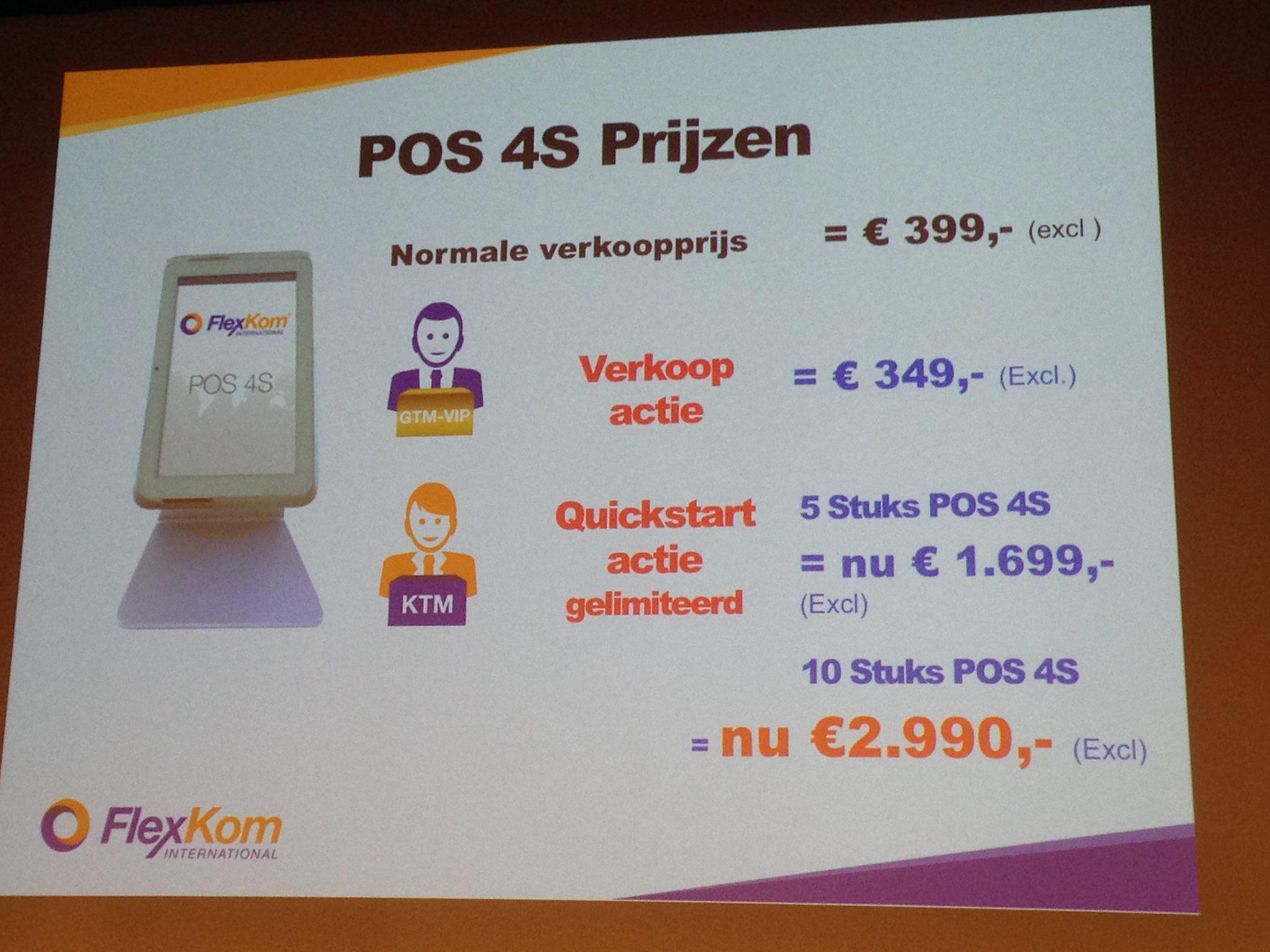 Aanschafprijzen van de POS van Flexkom