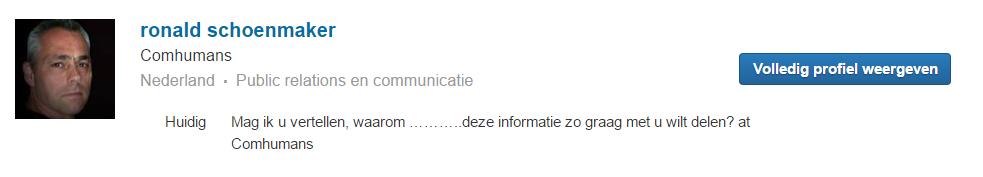 Ron Schoenmaker Comhumans sukkel